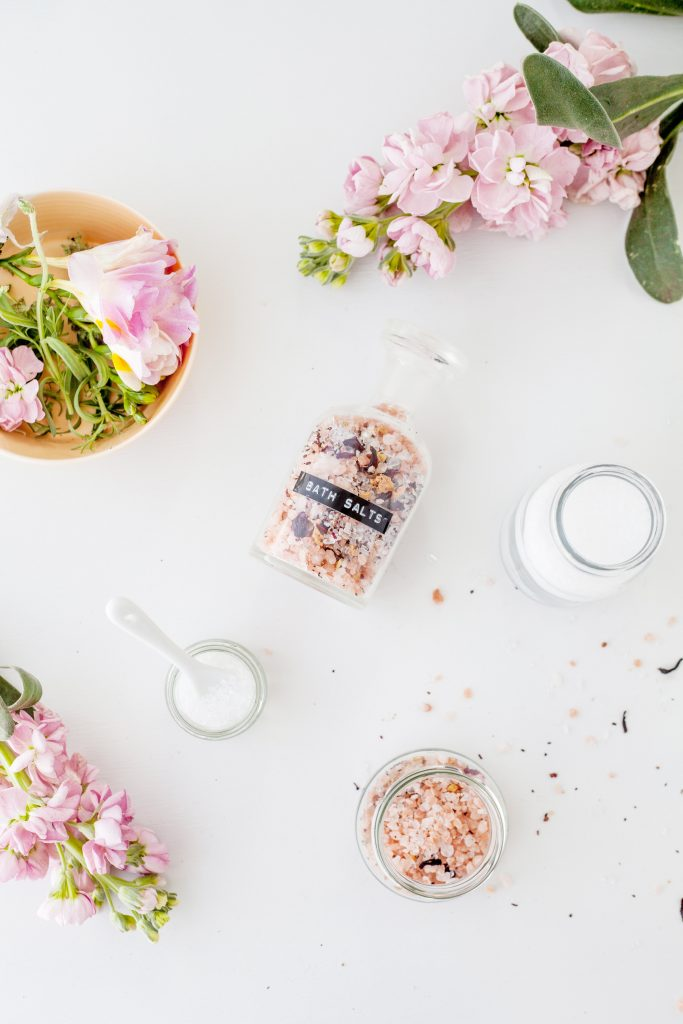DIY bath salts soak by healthfully whole